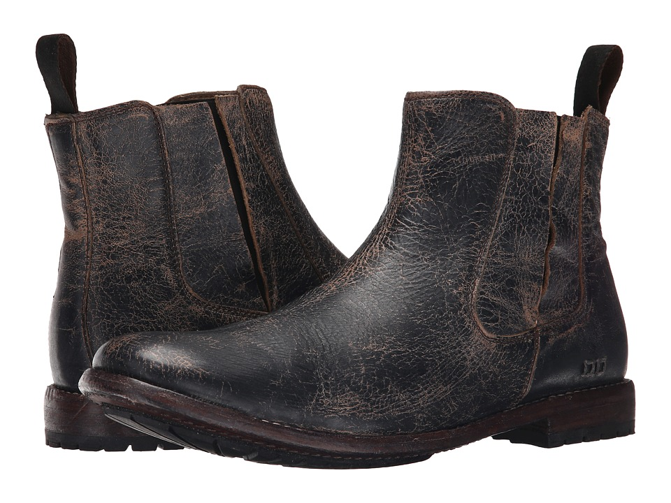 Bed Stu Taurus Black Lux Leather Mens Pull on Boots