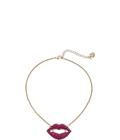 Betsey Johnson - Dark Shadows Vampire Lips Pendant