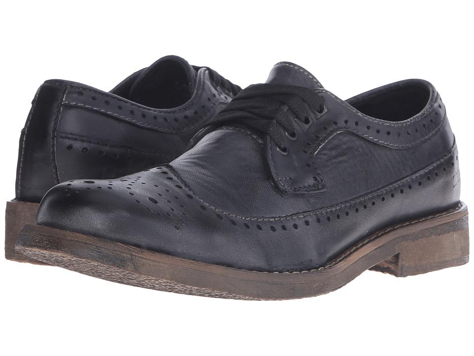 Bed Stu Beacon (Black Garment Dye Leather) Men