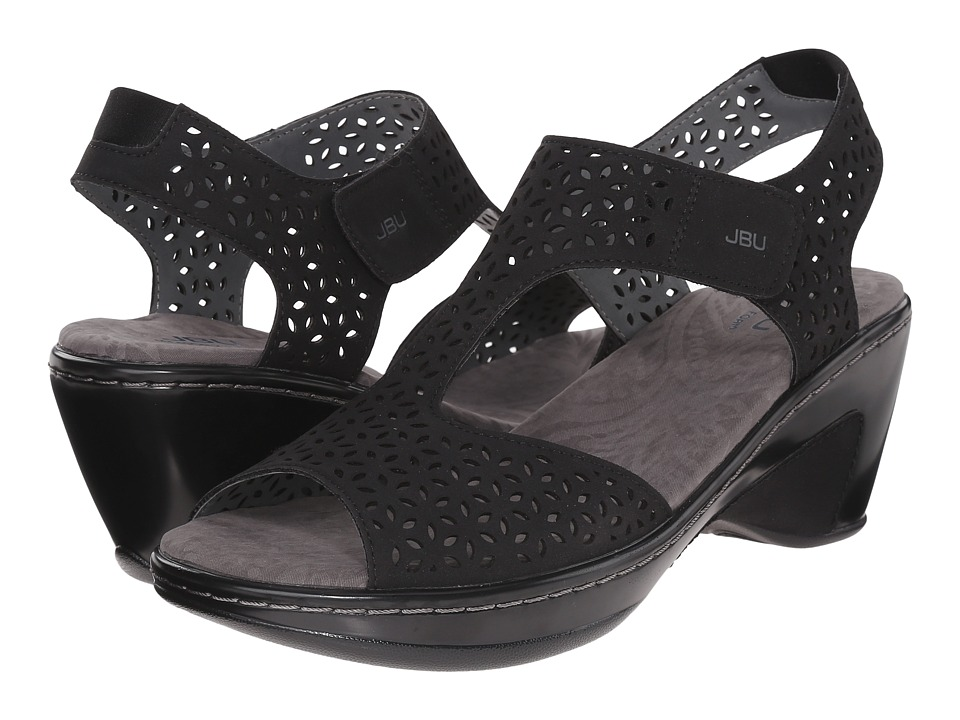 JBU Chloe Black Womens Wedge Shoes