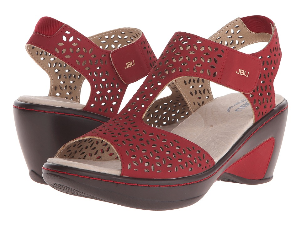 JBU Chloe Red Womens Wedge Shoes