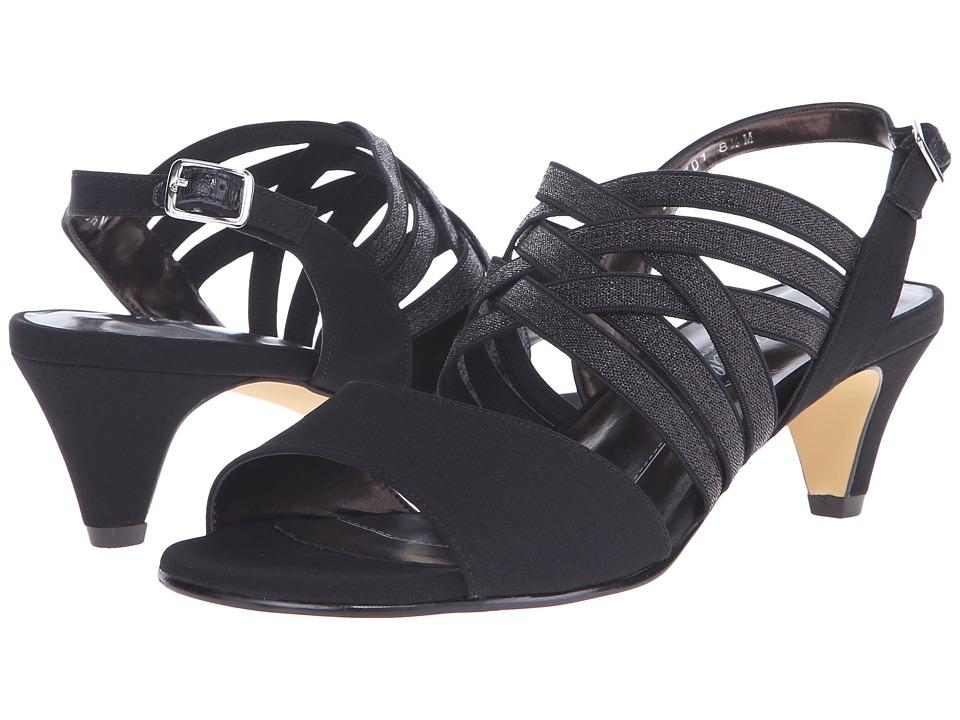 Rose Petals Lively Black Micro Womens Dress Sandals