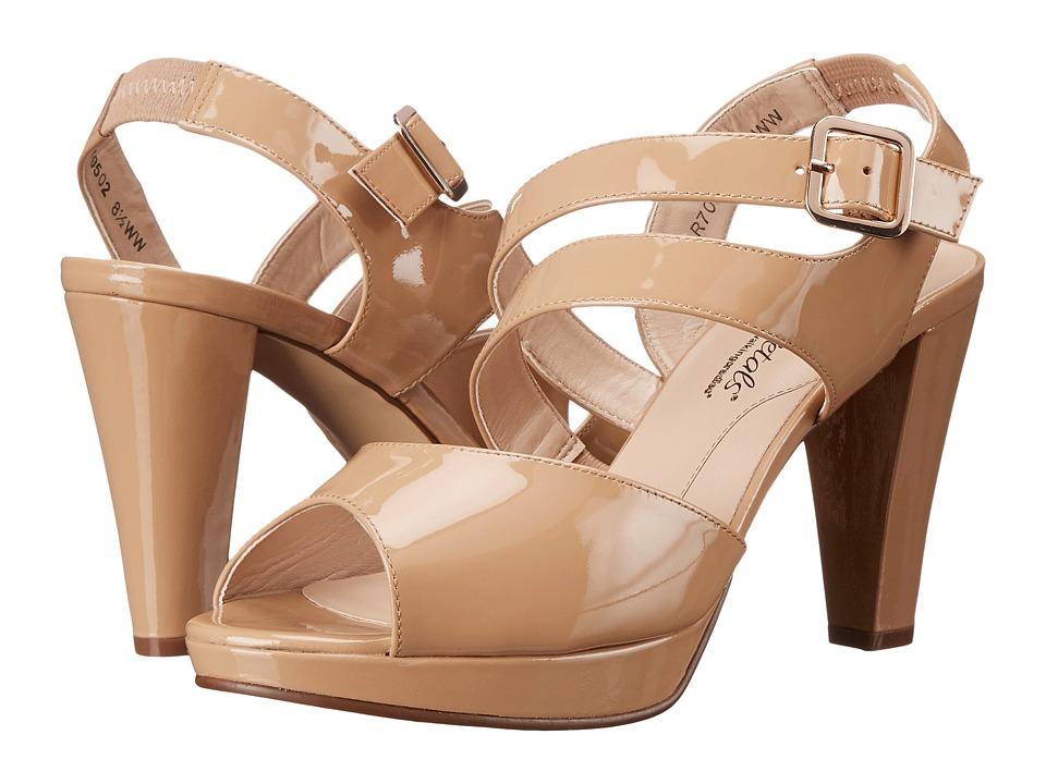 Rose Petals Presley New Nude Patent High Heels