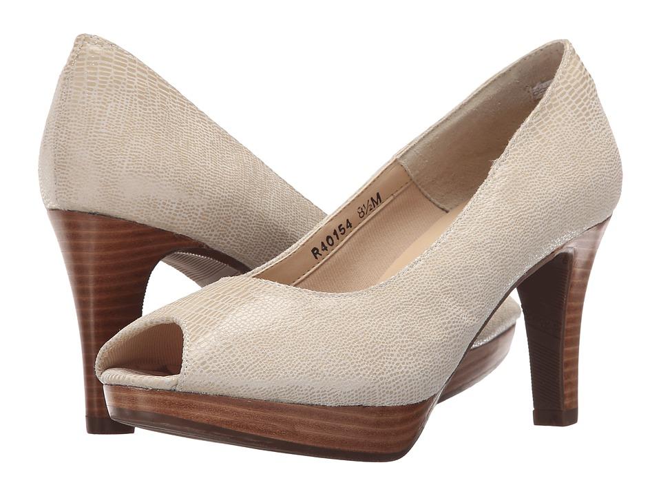 Rose Petals Prom Wheat Lizard Womens Shoes