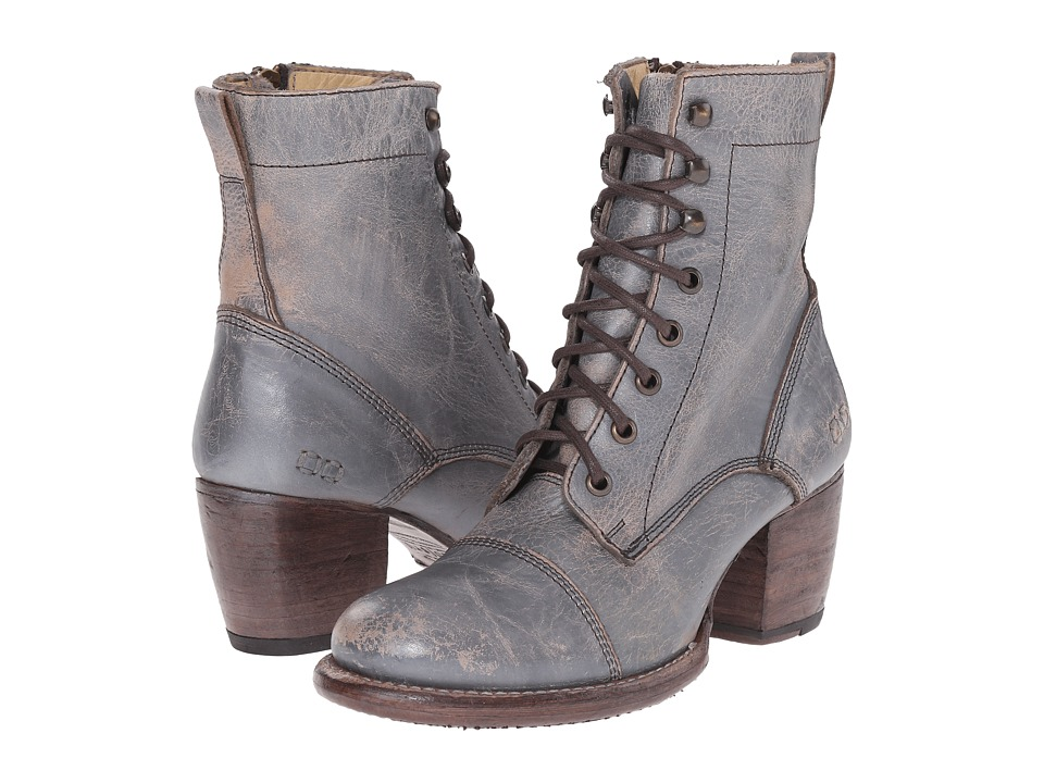 Bed Stu Oath Silver Lux Womens Lace up Boots