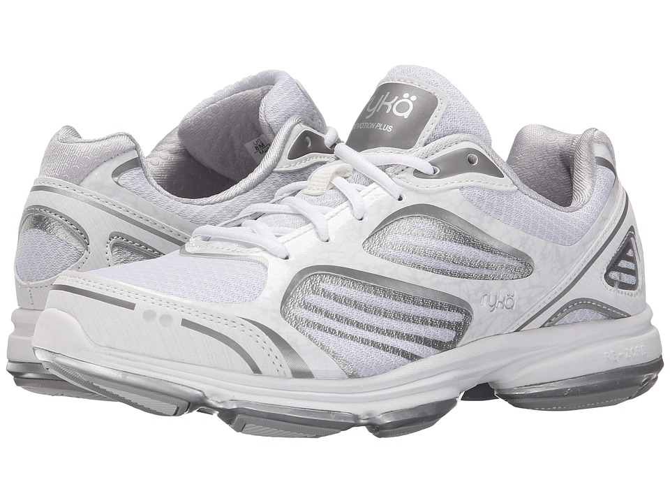 Ryka Devotion Plus White/Chrome Silver/Frosted Almond Womens Shoes