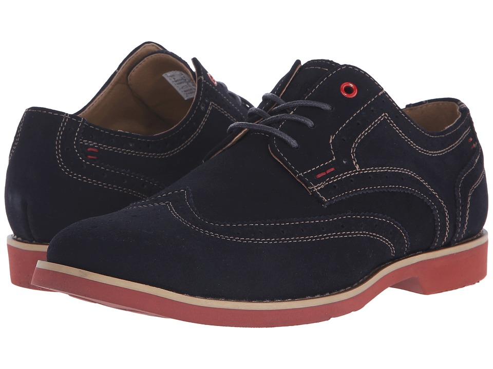 Hush Puppies Fowler EZ Dress Navy Suede Mens Lace Up Wing Tip Shoes