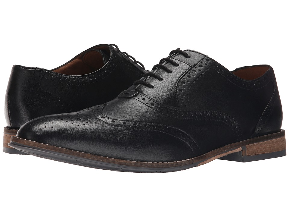 Hush Puppies - Style Brogue (Black Smooth Leather) Men