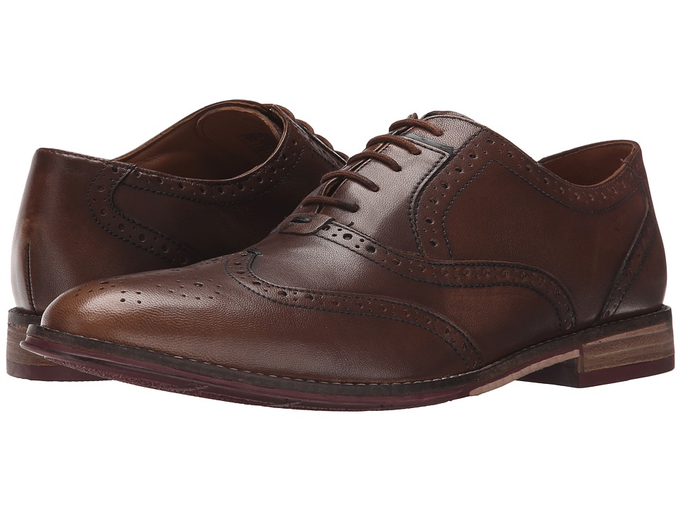 Hush Puppies - Style Brogue (Tan Smooth Leather) Men