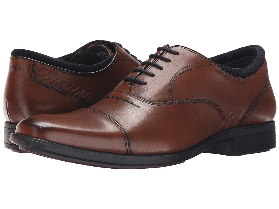 Hush Puppies Evan Maddow Tan Leather Mens Lace Up Cap Toe Shoes