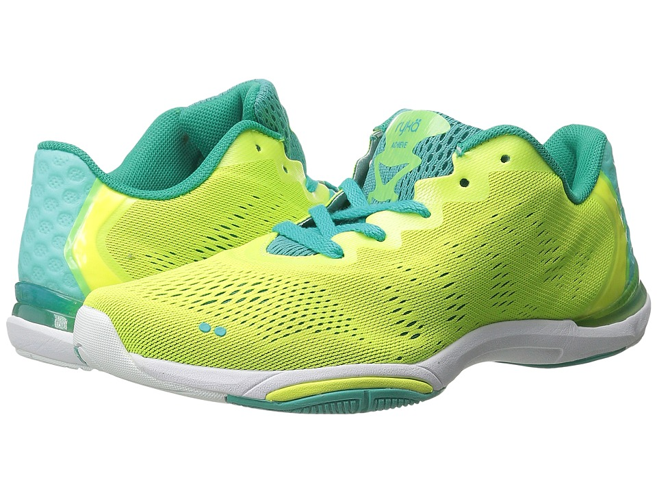Ryka Achieve Lime Shock/Teal Blast/White Womens Shoes