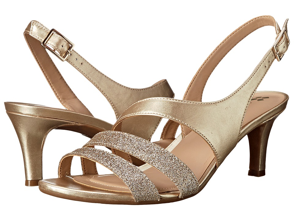 Naturalizer Taimi (Gold Pearlized/Glitter) High Heels