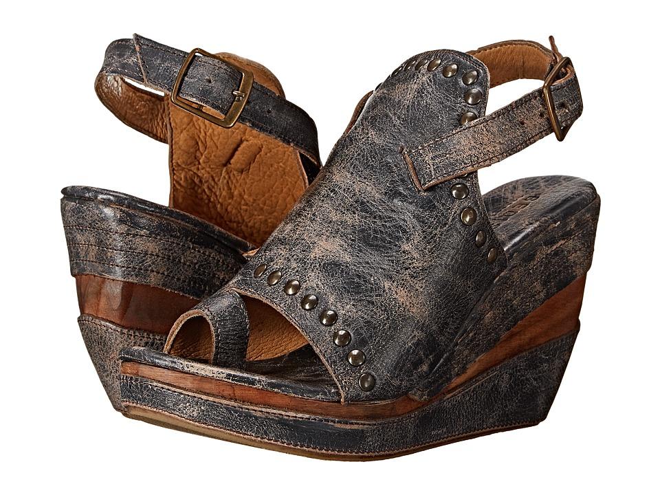 Bed Stu Joann Black Lux Womens Wedge Shoes