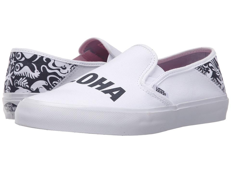 Vans - Slip-On SF ((TK Sea Life) Bijou Blue) Womens Skate Shoes