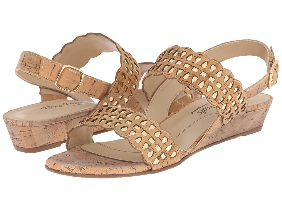 Rose Petals Jolie Gold Cork/Gold Metallic Womens Sandals