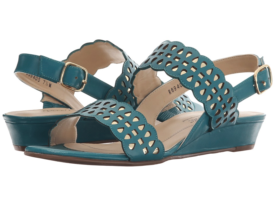 Rose Petals Jolie Summer Teal Kid/Gold Metallic Womens Sandals