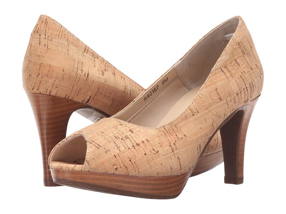 Rose Petals Prom Gold Cork Womens Shoes