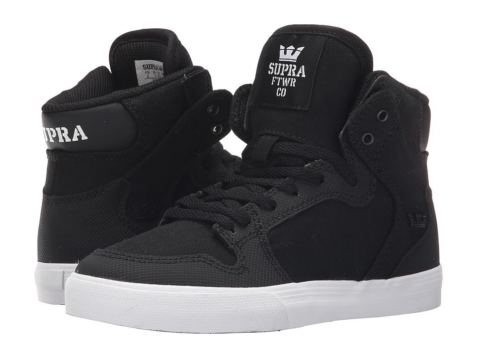 Supra Kids Vaider Little Kid/Big Kid Black/White Kids Shoes