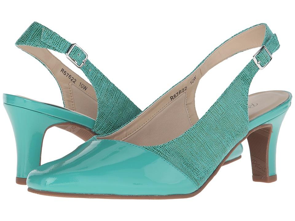 Rose Petals Ramona Jade Green Lizard Print Womens Shoes