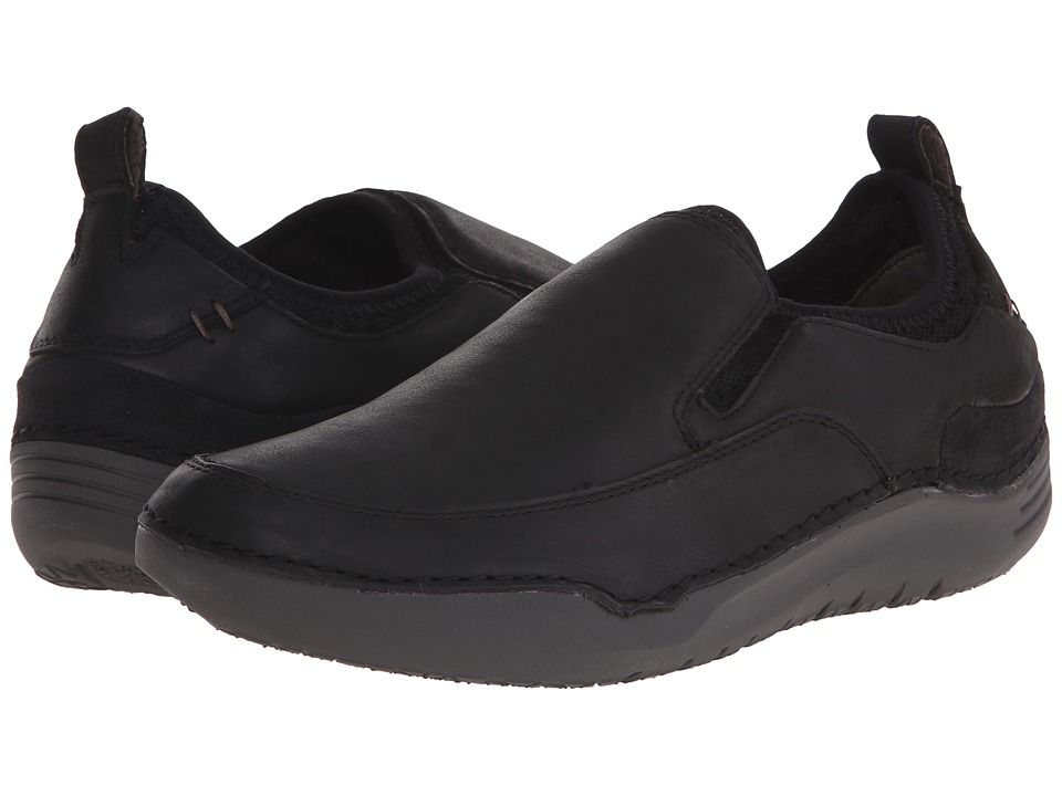 Hush Puppies - Crofton Method (Black Leather) Men