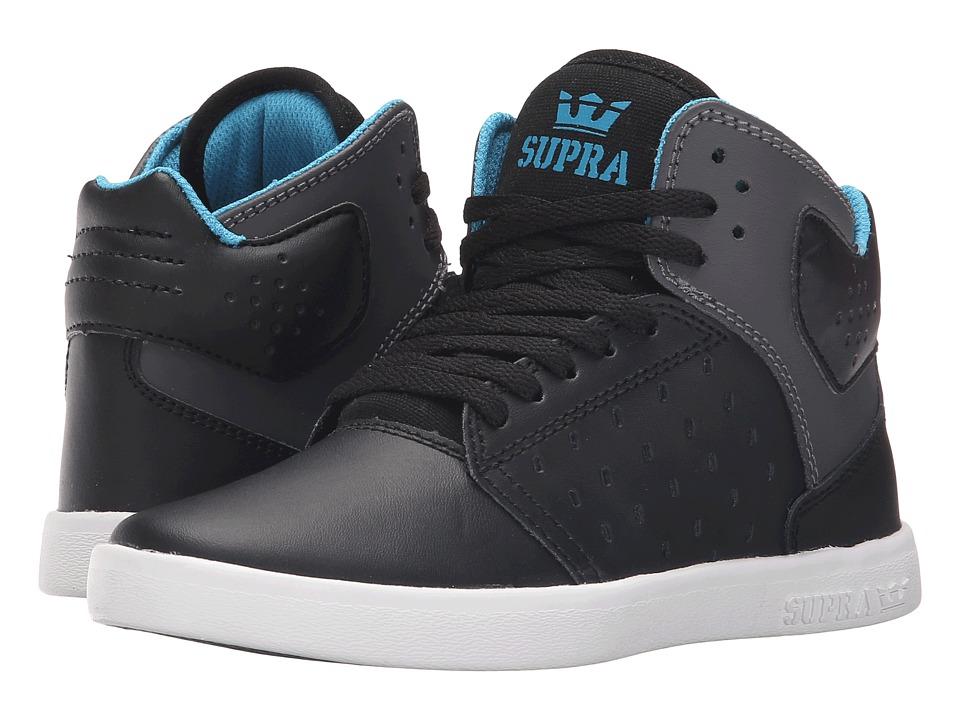Supra Kids Atom Little Kid/Big Kid Black/Charcoal Boys Shoes