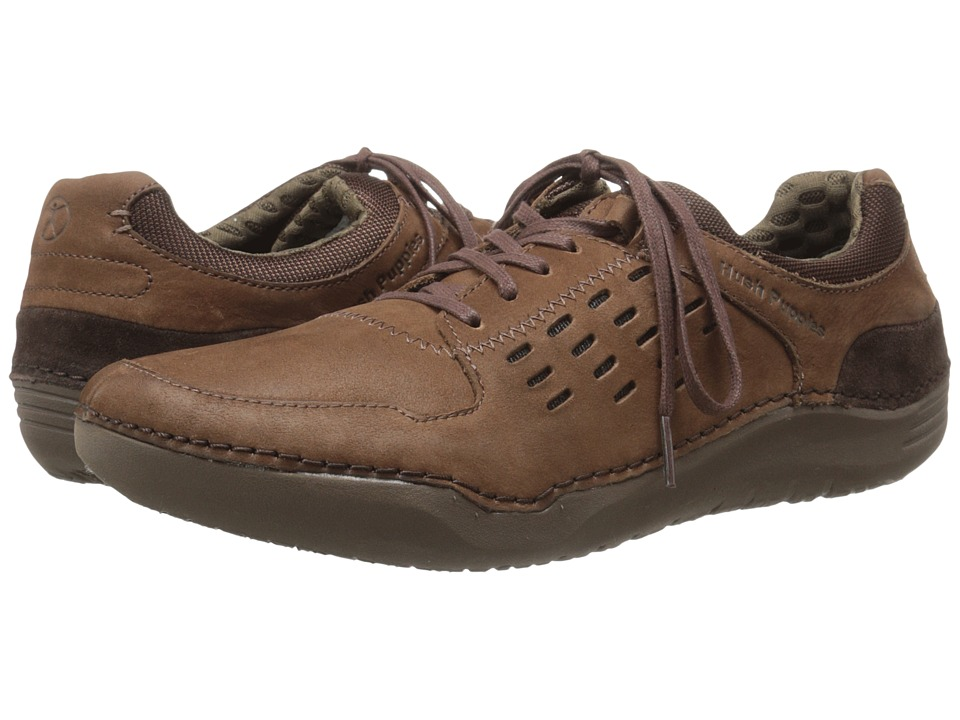 Hush Puppies Hinton Method Brown Leather Mens Lace up casual Shoes