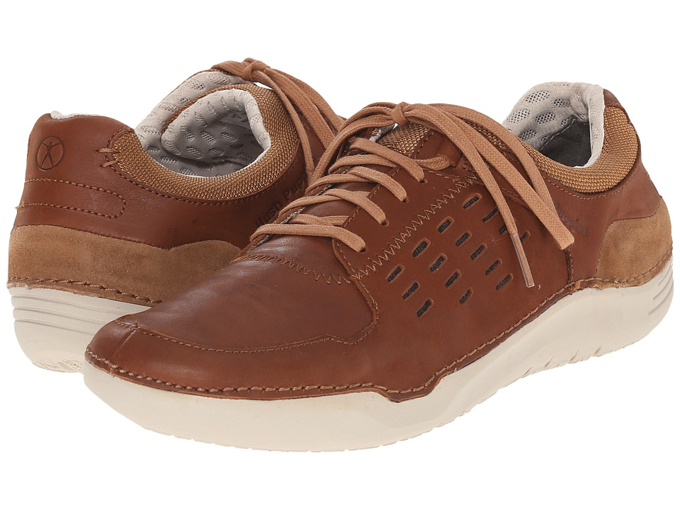 Hush Puppies Hinton Method Tan Leather Mens Lace up casual Shoes