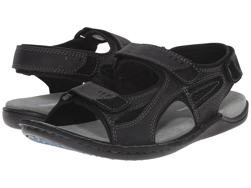 Hush Puppies - Rawson Grady (Black Waxy Leather) Men's Sandals