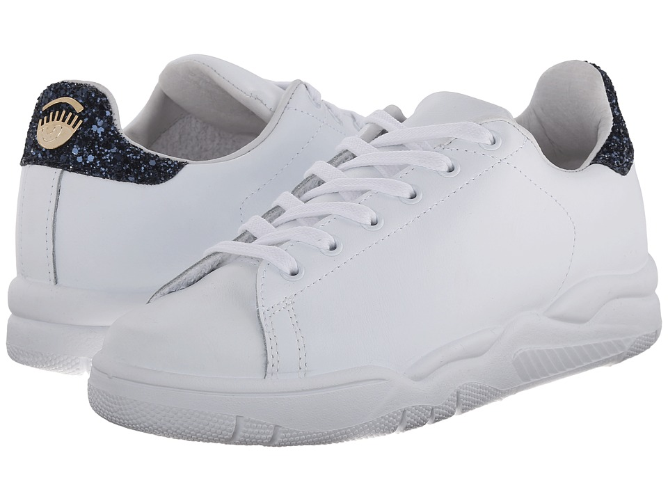 Chiara Ferragni Chiara Lace Up Sneaker White/Navy Womens Lace up casual Shoes