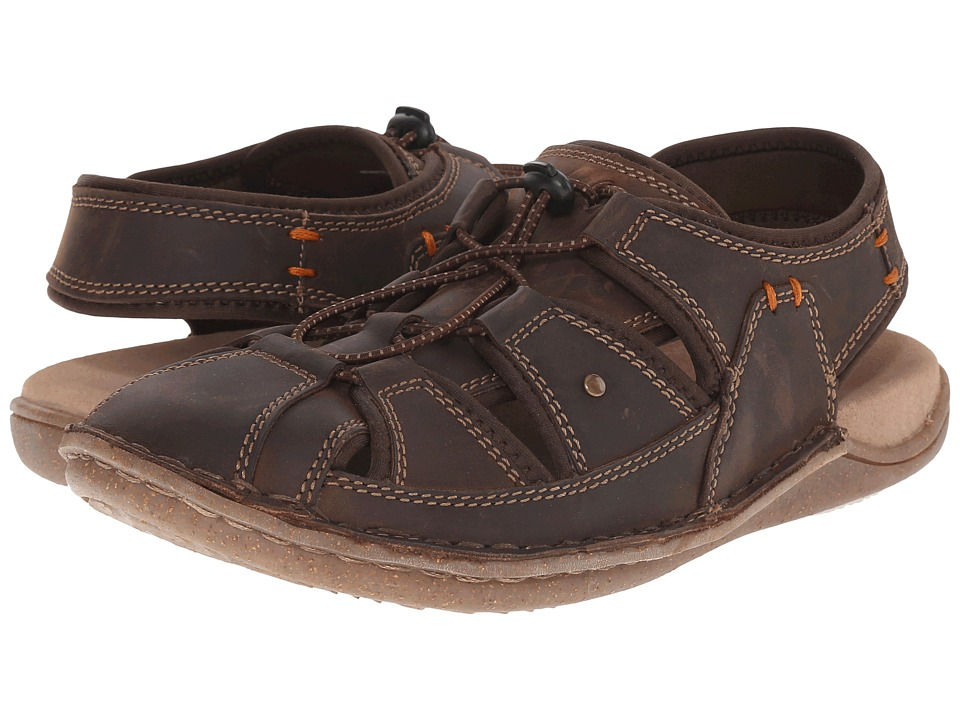 Hush Puppies - Bergen Grady (Brown Waxy Leather) Men