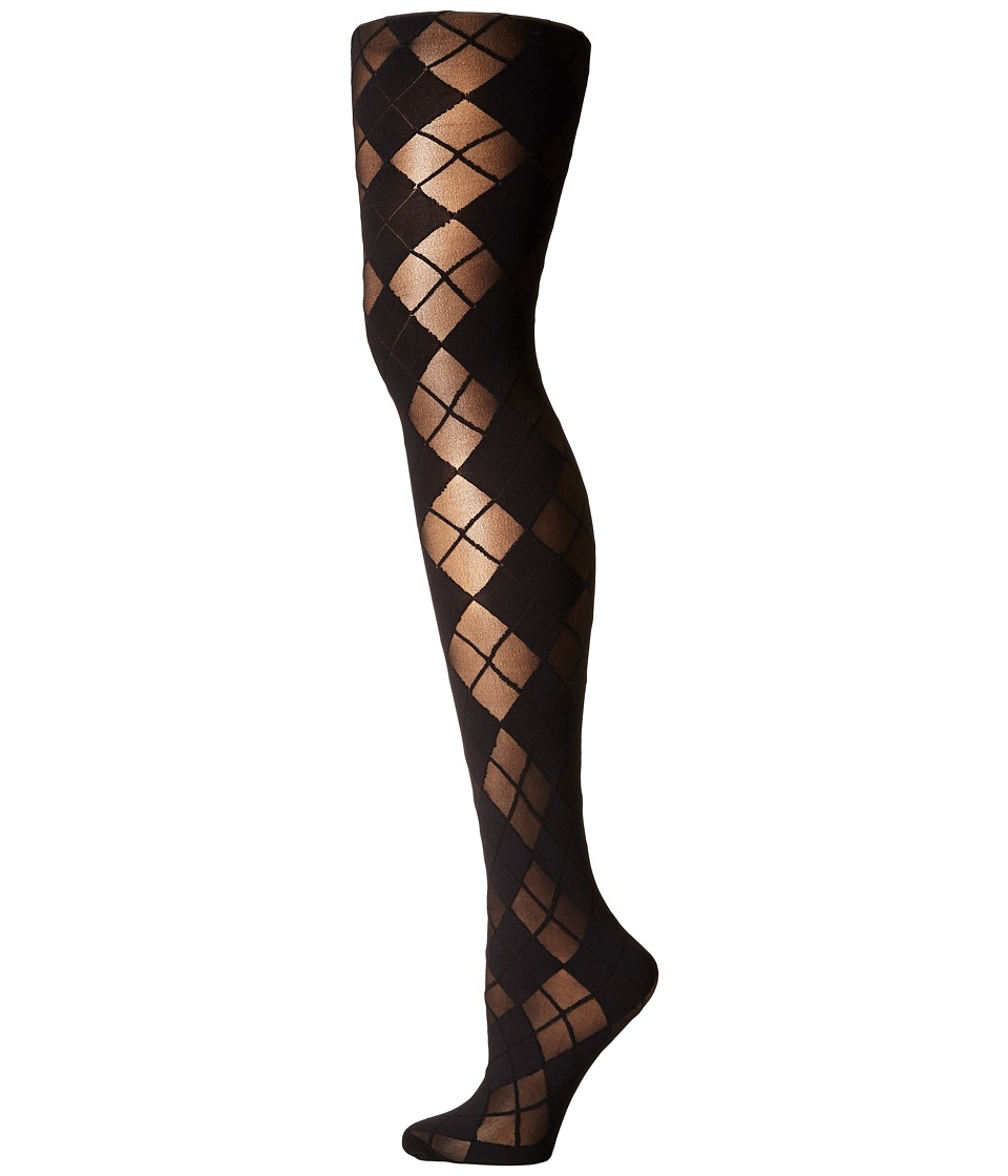 Alice Olivia Argyle Tights Black Hose