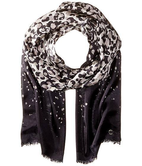 calvin klein cascade leopard silk scarf