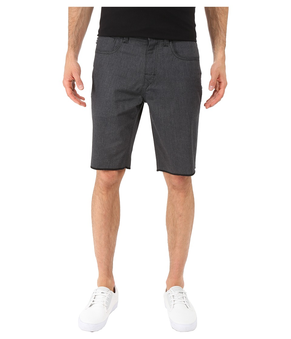 Oakley 50s Melange Shorts Jet Black Heather Mens Shorts