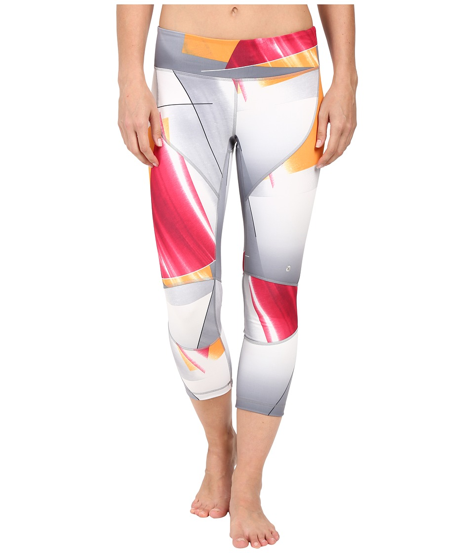 Spyder Chance Crop Pants Multi Color Shield Print Womens Workout