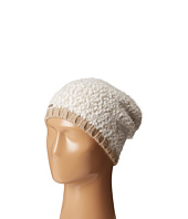 Calvin Klein - Boucle Knit Slouchy Beanie w/ Contrast Rib Cuff