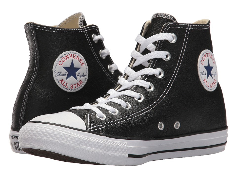 Converse Chuck Taylor All Star Leather Hi Black Classic Shoes