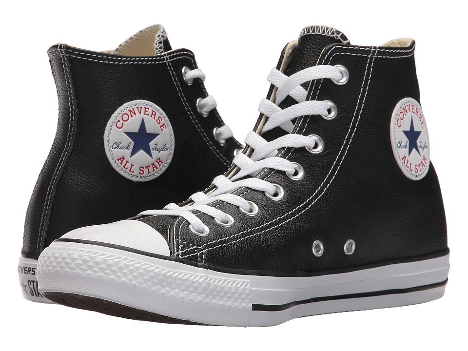 Converse Chuck Taylor(r) All Star(r) Leather Hi (Black) C...