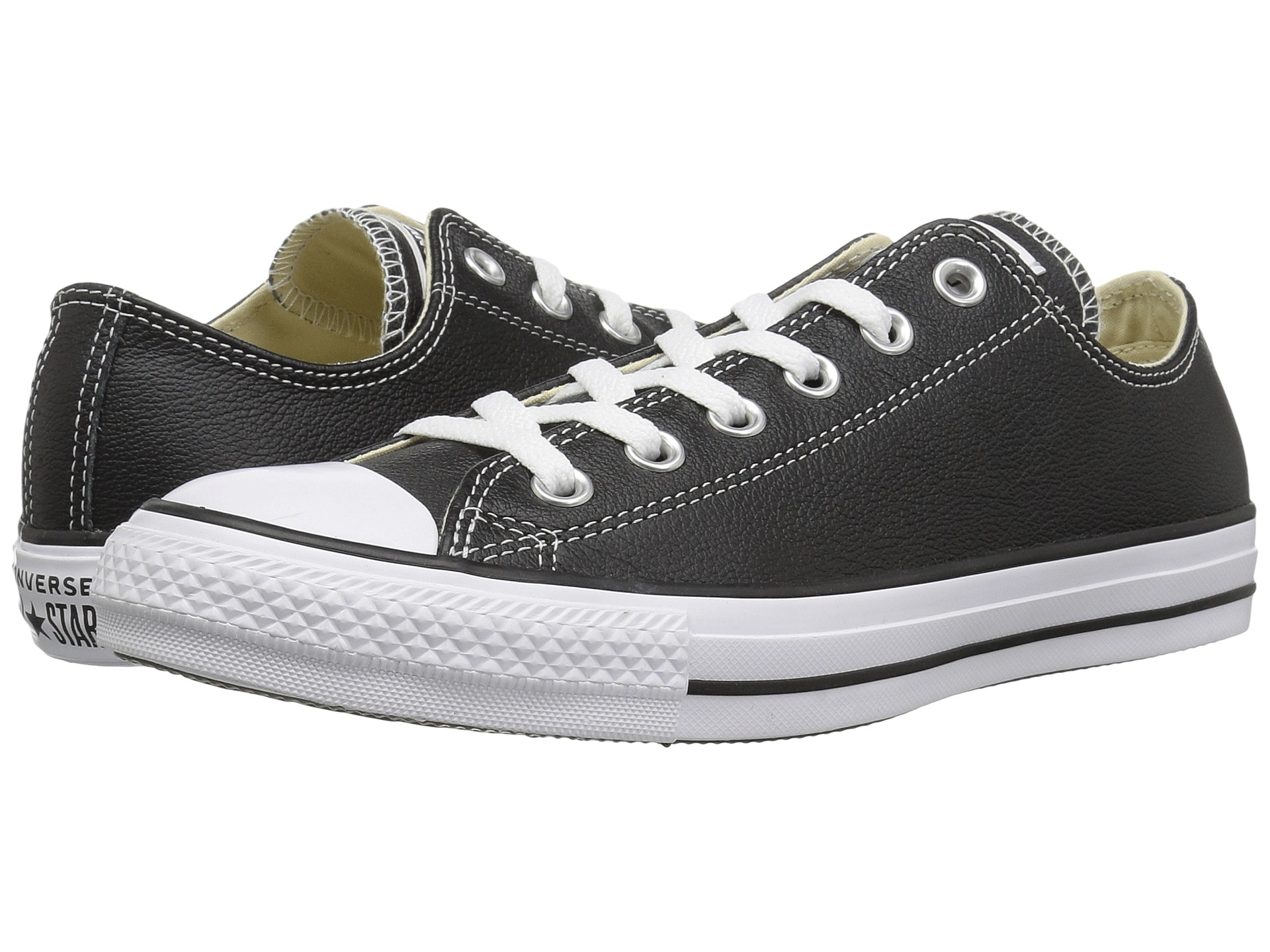 converse chuck taylor all star leather ox at. Black Bedroom Furniture Sets. Home Design Ideas