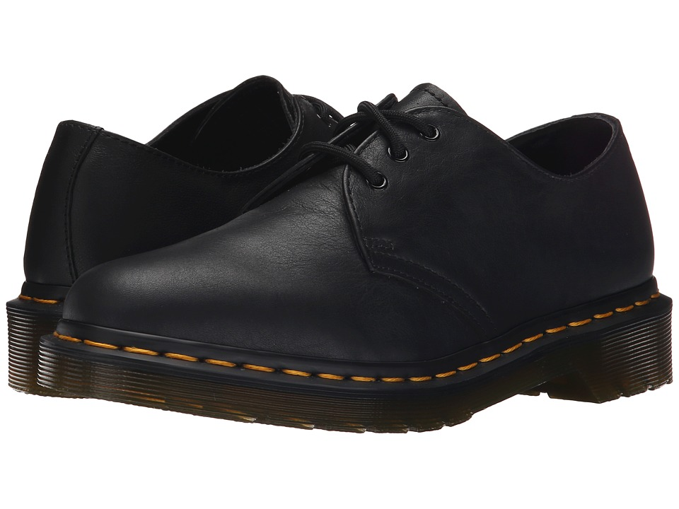 Dr. Martens 1461 3 Eyelet Shoe Black Virginia Womens Lace up casual Shoes
