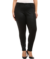 NYDJ Plus Size - Plus Size Alina Legging in Black Coated Chevron