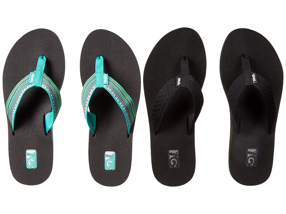 Teva Mush II 2 Pack Fronds Black/La Manta Multi Teal Womens Sandals