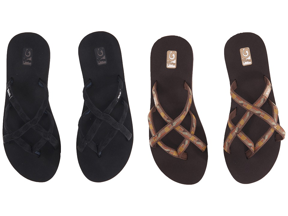Teva Olowahu 2 Pack Mbob/Waterfall Golden Brown Womens Sandals