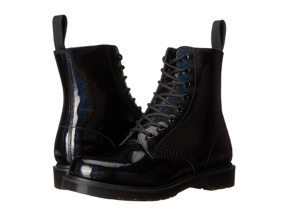 Dr. Martens Pascal 8 Eye Boot Black Petrol Womens Lace up Boots