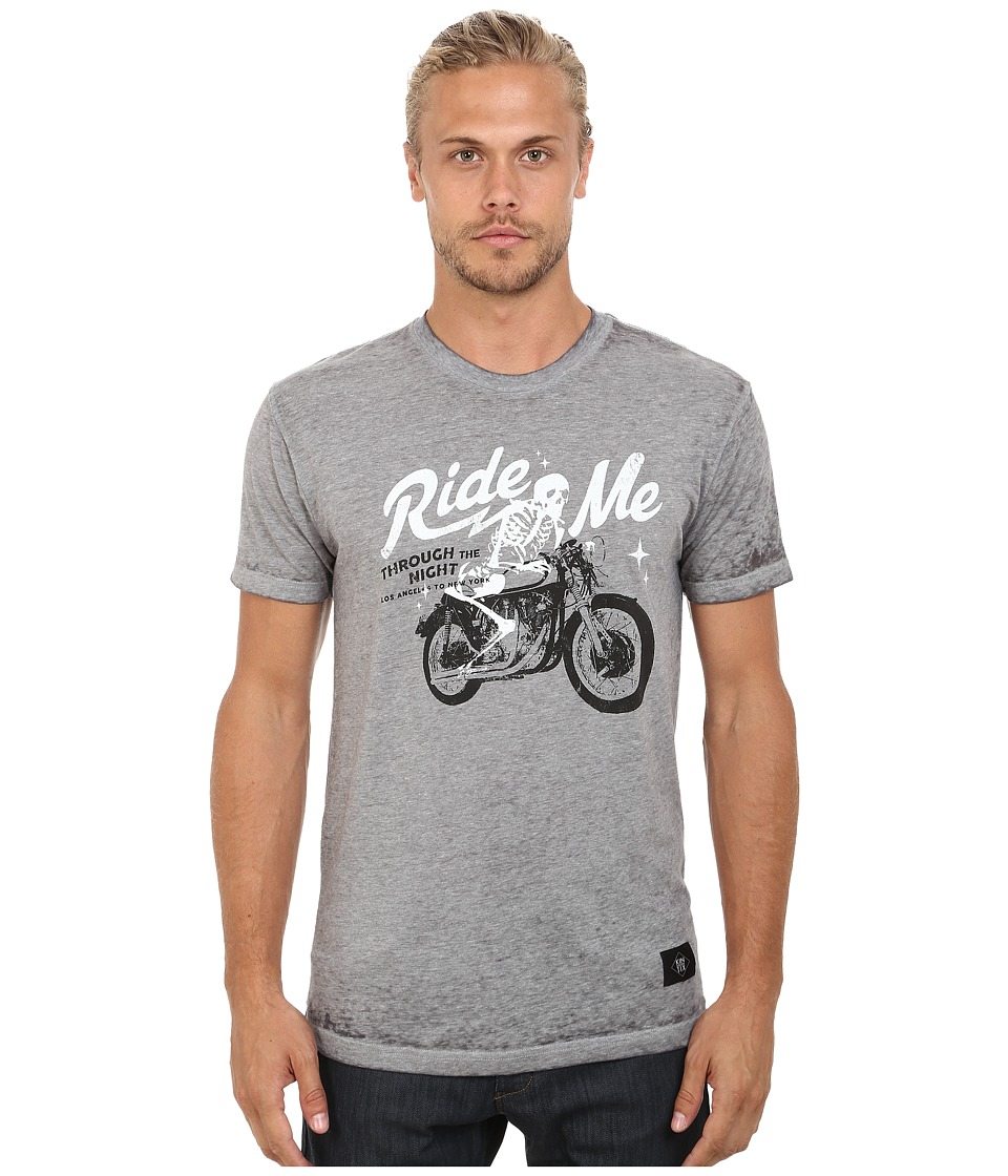 KINETIX Ride Me Tee Grey Mens T Shirt
