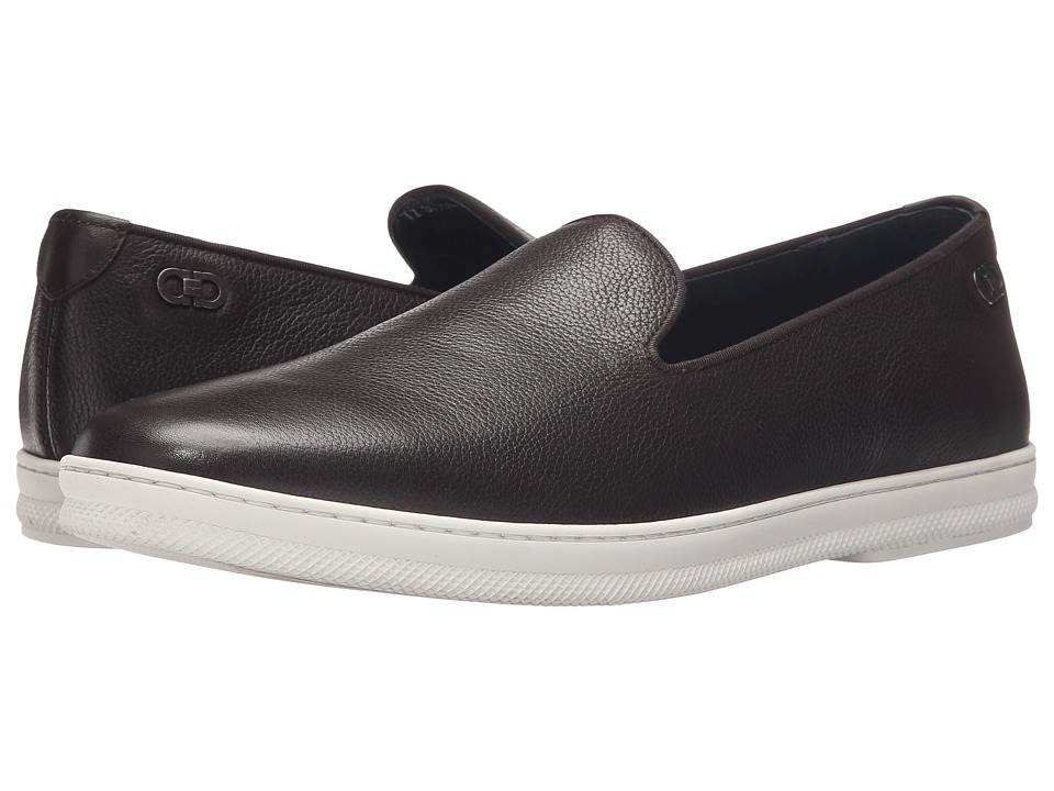 Salvatore Ferragamo Leblanc Moccasin Hickory Mens Moccasin Shoes