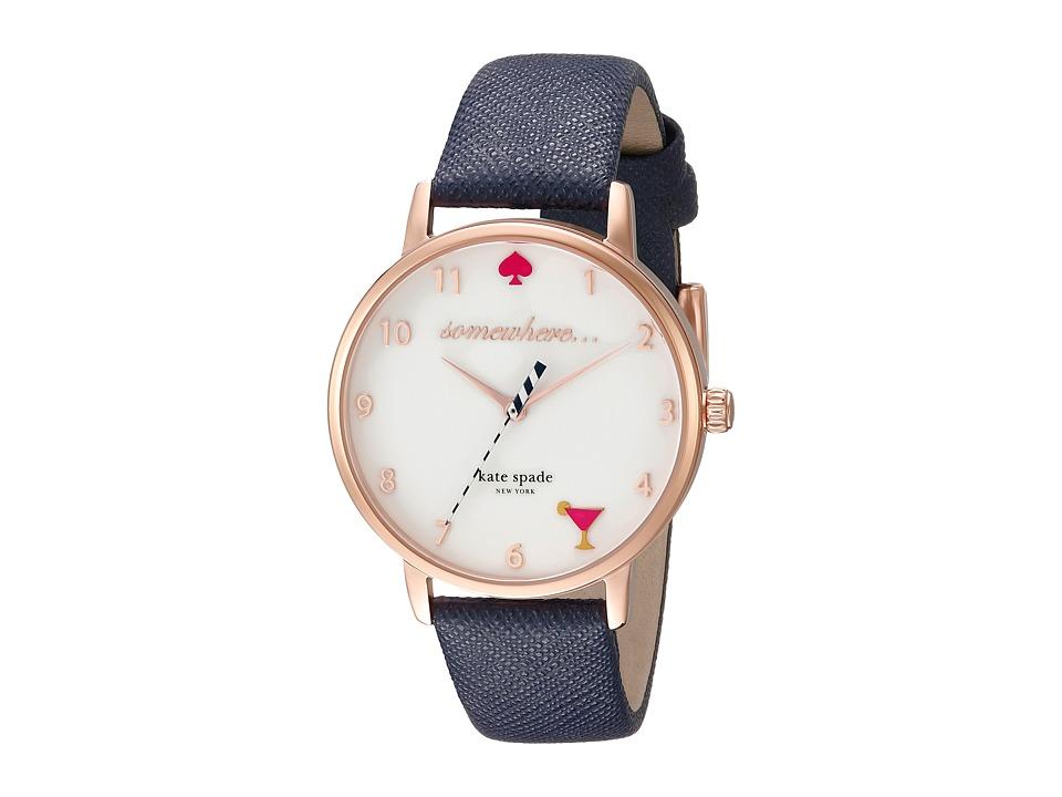 Kate Spade New York - Metro - KSW1040 (Navy on Gold) Watches