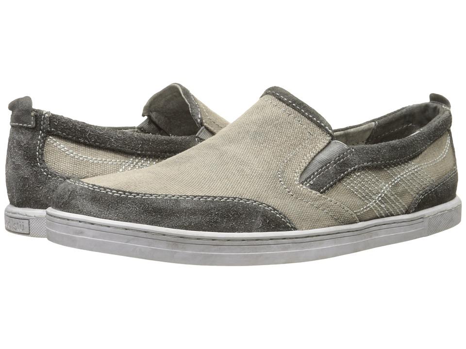 Bed Stu Bluegill Grey Garment Suede Canvas/Leather Mens Shoes
