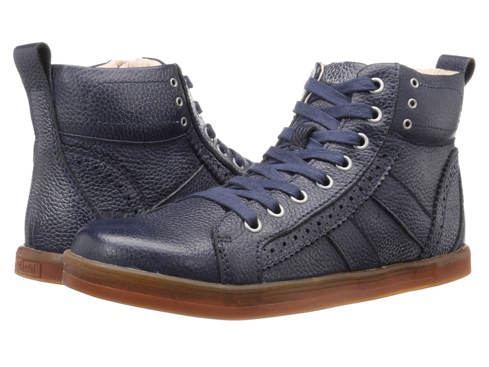 Bed Stu Brentwood Navy Floater/White BFS Leather Mens Lace up Boots