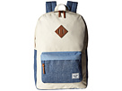 Herschel Supply Co. Heritage (Natural/Chambray Crosshatch/Limogess Crosshatch/Tan Leather)