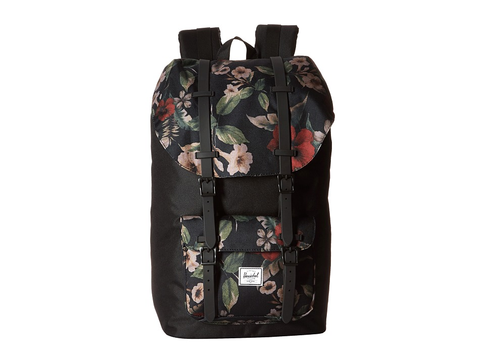 Herschel Supply Co. Little America Black/Hawaiian Camo/Black Rubber Backpack Bags